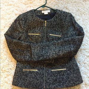New Michael Kors Military Metal Bar Jacket Coat